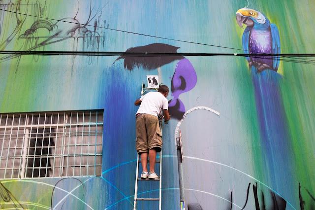 New StreetArt Collaboration By Fin DAC, Angelina Christina and Nove DigitalOrganico in Vila Madalena, Sao Paulo  9
