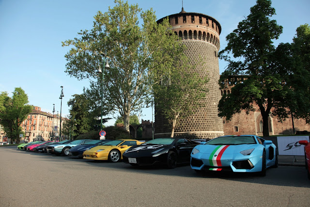 Lamborghini Celebrate Their 50th Anniversary with a Grande Giro in Italy