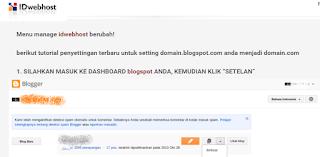 gambar cara setting domain blogspot idwebhost terbaru