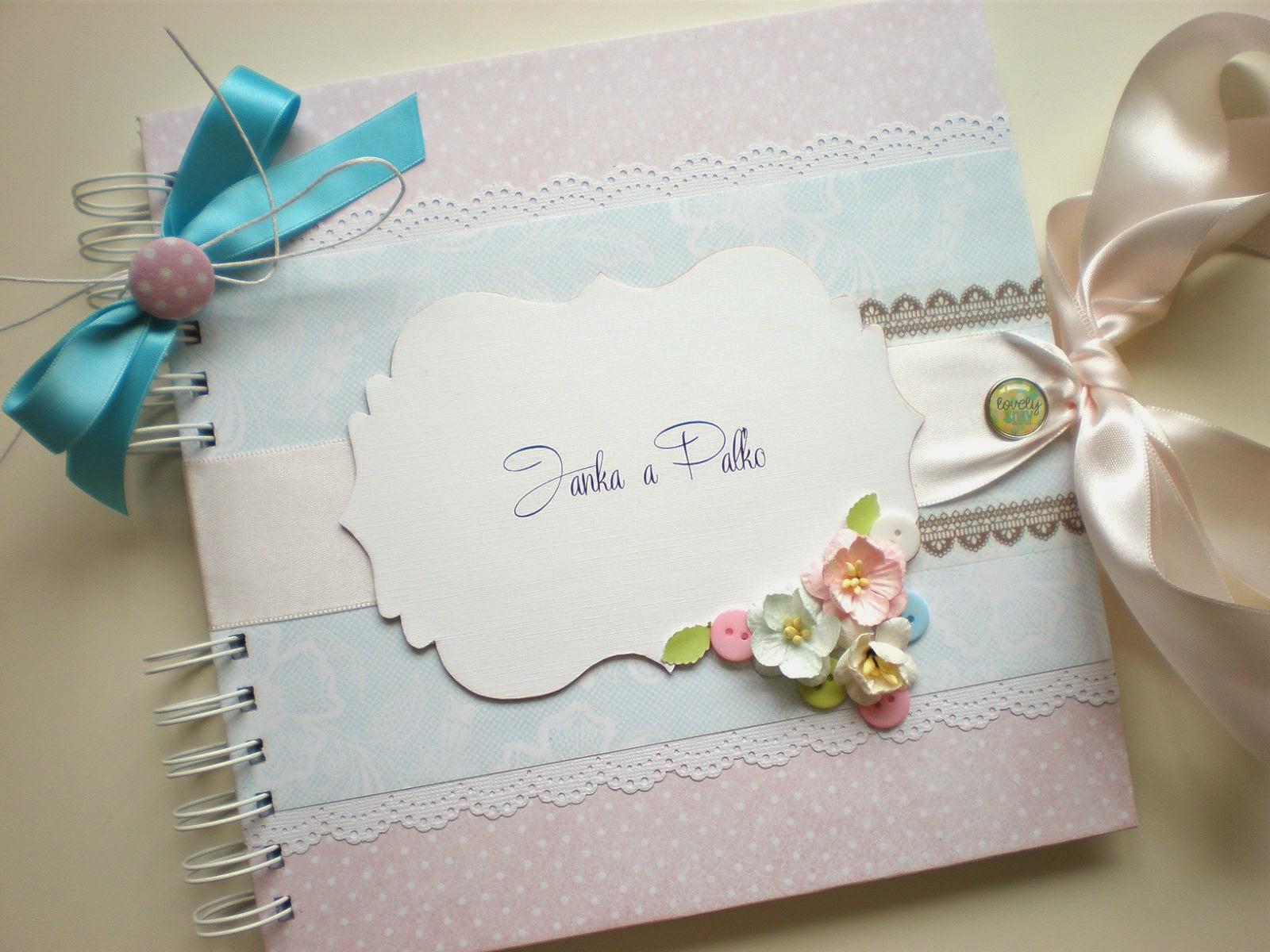 Kniha hostí pastel(k)ová / Pastel wedding guest book