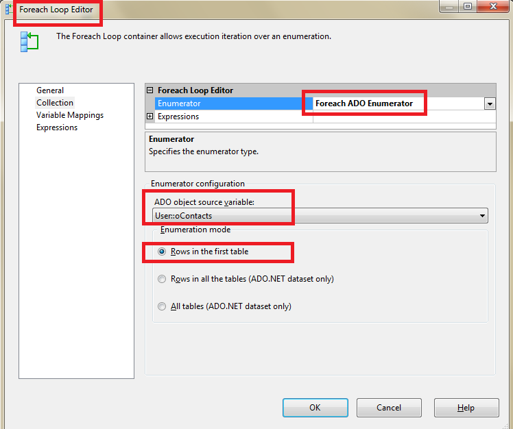 SSIS in-memory ADO Recordset Table