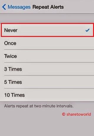 Repeat Alerts