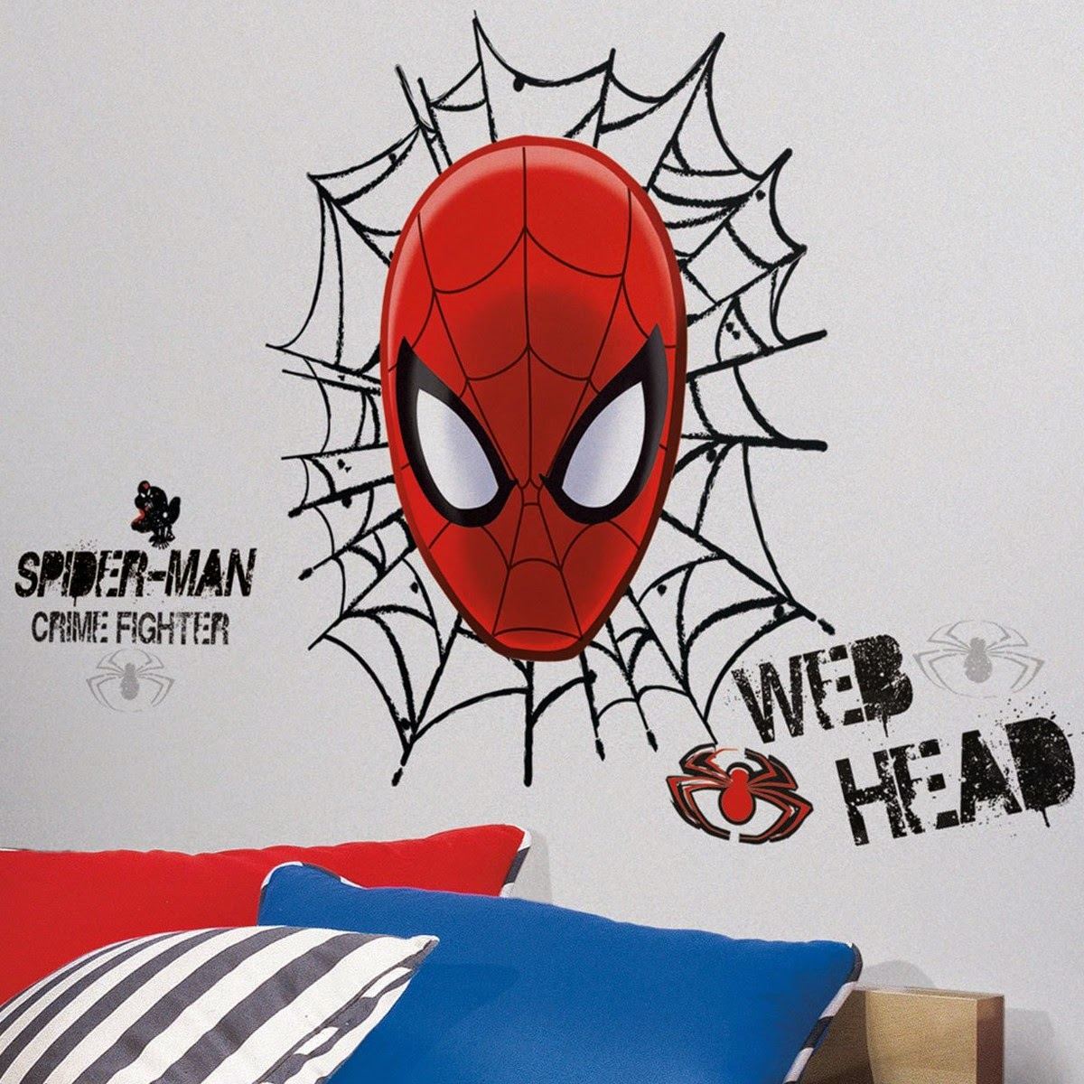 pegatina pared spiderman