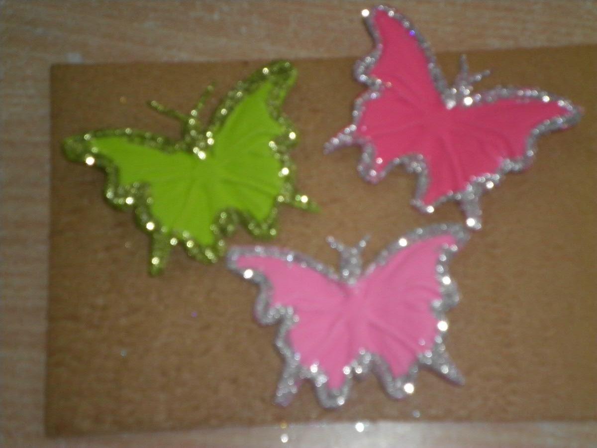 Flores y mariposas de goma eva imagui - Como hacer mariposas de goma eva ...