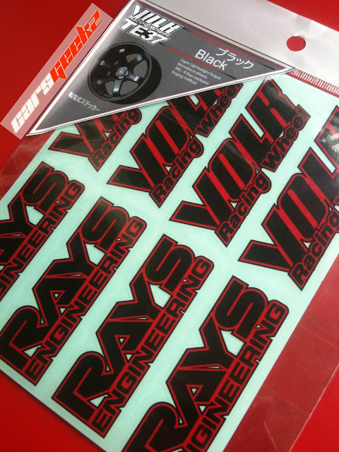 volk rays black and red sticker vinyl