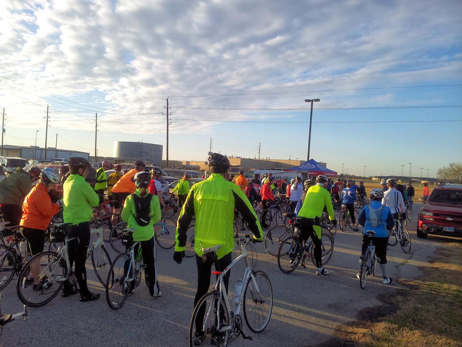 Start Of Bike Ride