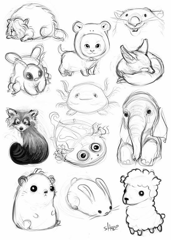 Gallery For gt Simple Animal Doodles
