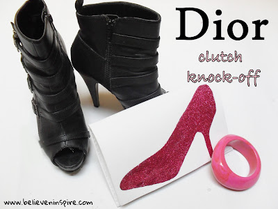 dior shoe clutch knock-off