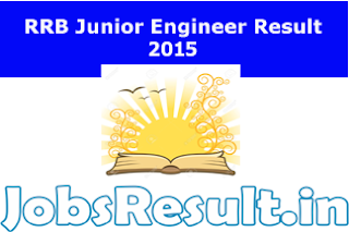 RRB Junior Engineer Result 2015