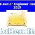 RRB Junior Engineer Result 2015 RRB JE Results Merit List