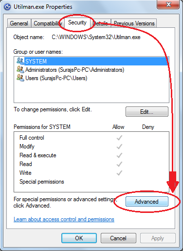 how to change inherited permissions windows 7