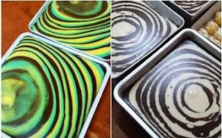 Puding Pelangi/ Puding Roti Marble