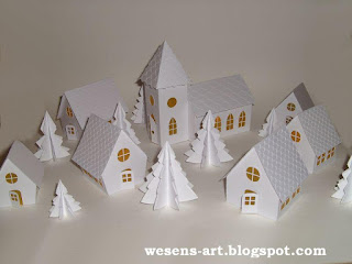 Winter Village     wesens-art.blogspot.com
