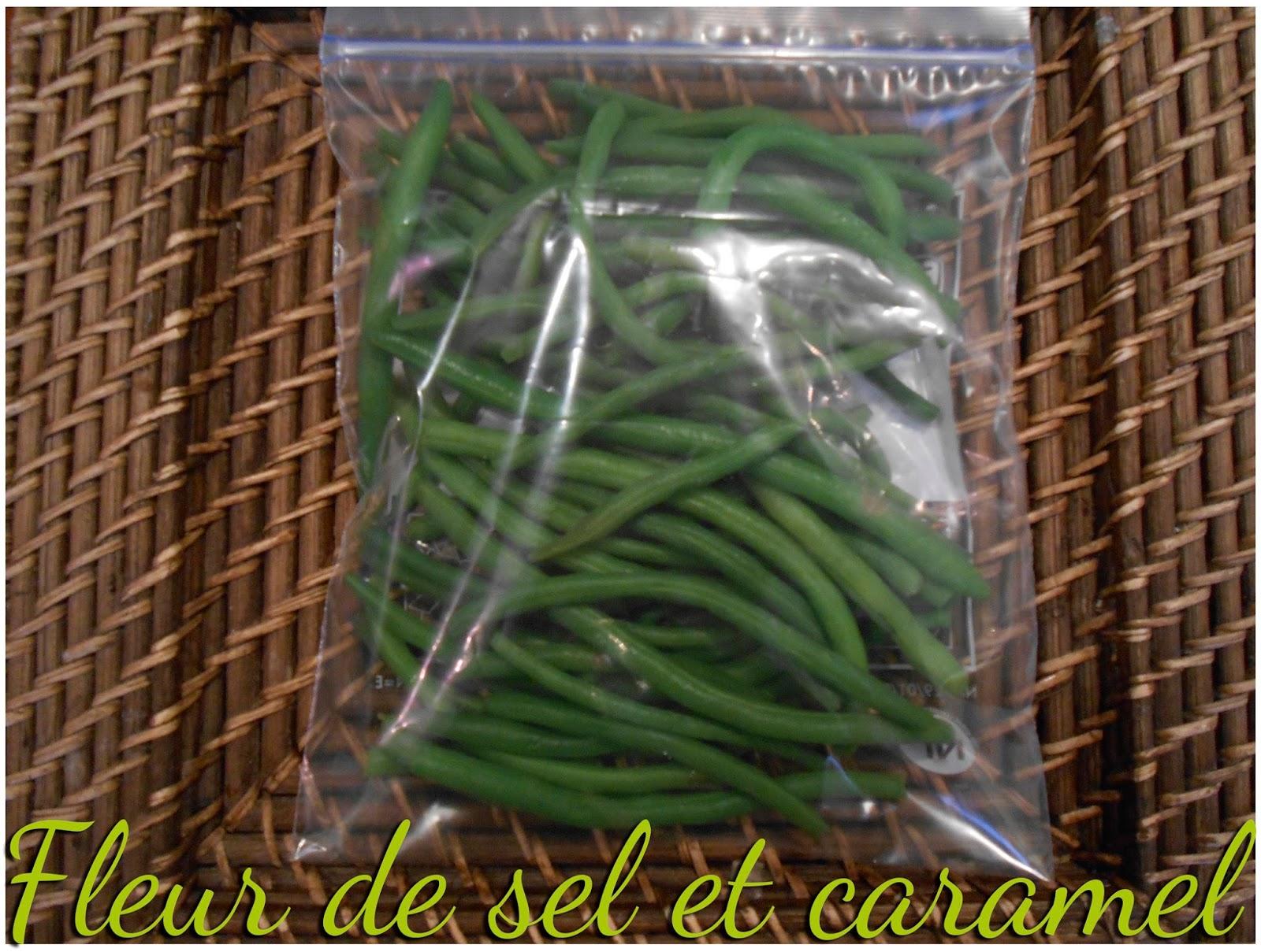 Fleur de sel et caramel cong lation de haricots verts - Congeler les haricots verts du jardin ...
