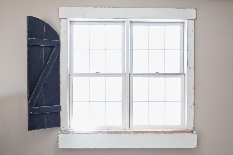 window shutters rustic barn style