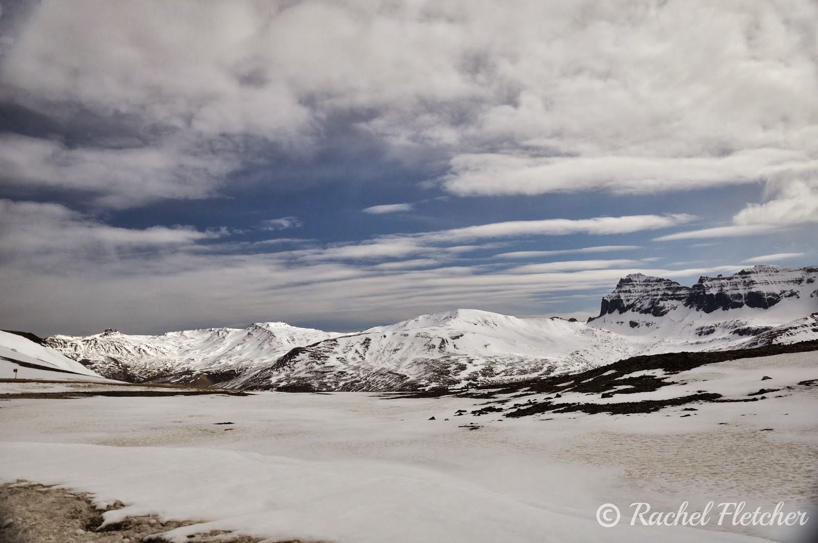 Snowy Icelandic scenery
