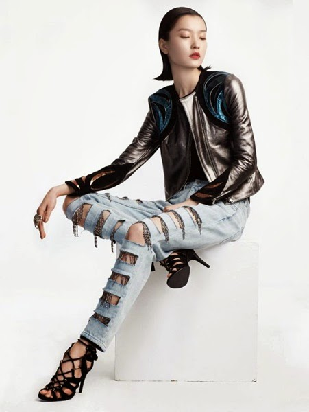 H&M 2014 Spring Editorial: Fringed Jeans