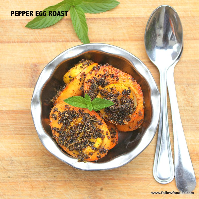 MILAGU MUTTAI VARUVAL | PEPPER EGG ROAST RECIPE | EGG RECIPES