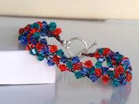 Mesmerize Swarovski Wire Crochet Bracelet