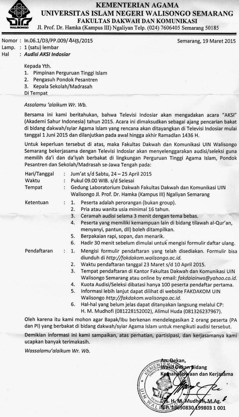 Audisi AKSI (Audisi Akademi Sahur Indonesia) Indosiar 2015