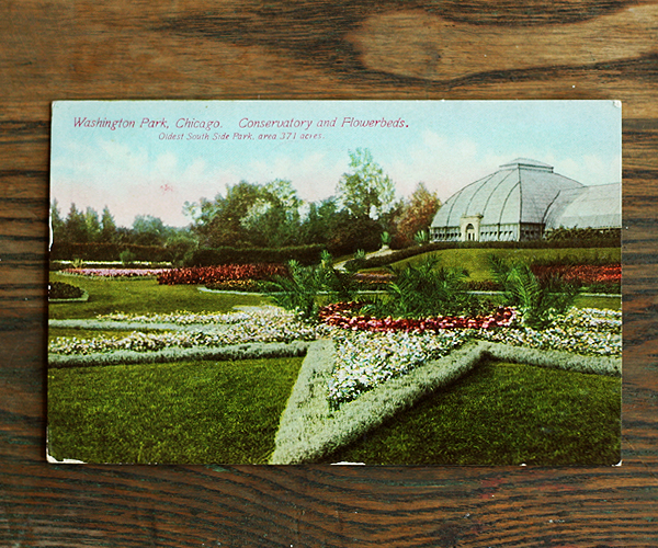Washington Park Chicago Conservatory and Flowerbeds