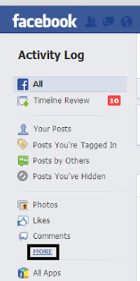 clear your facebook search history - step 2
