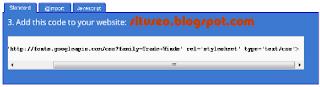 google web font code