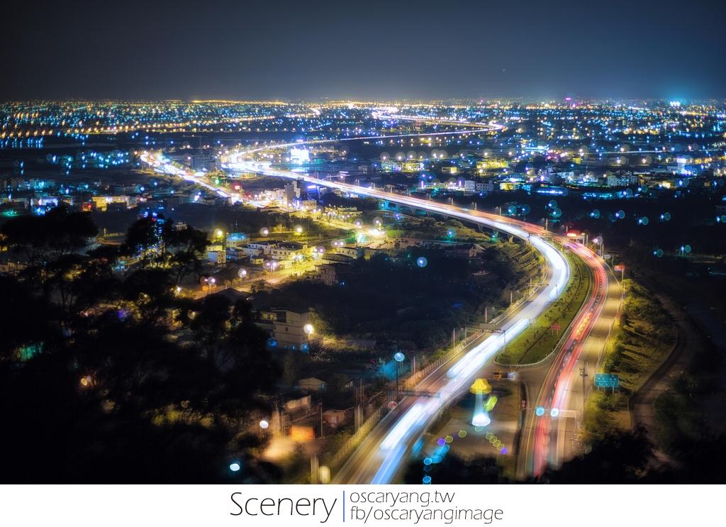 宜蘭國道五號 夜景 S型車軌