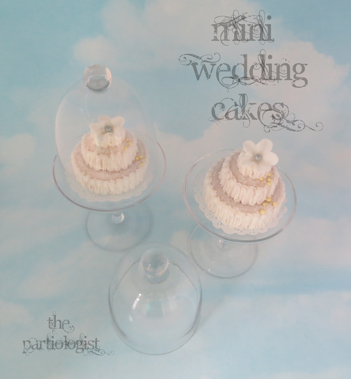 The Partiologist Mini Tiered Wedding Cake Tutorial - Mini Wedding Cake Mold