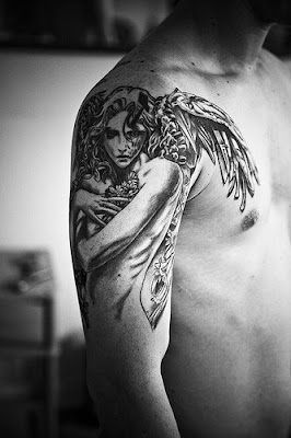 Amazing Angel tattoos design