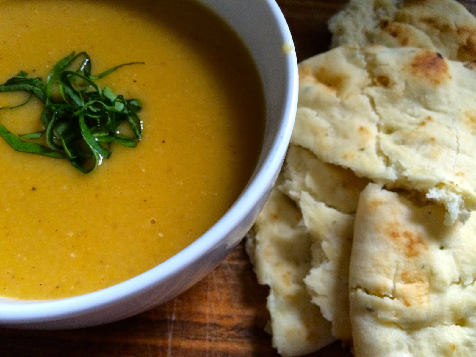 Red Lentil and Winter Squash Bisque