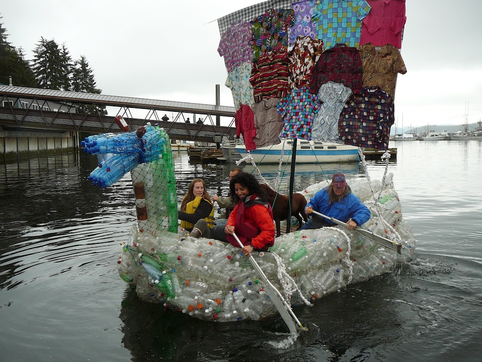 how to recycle recycled plastic bottles boat