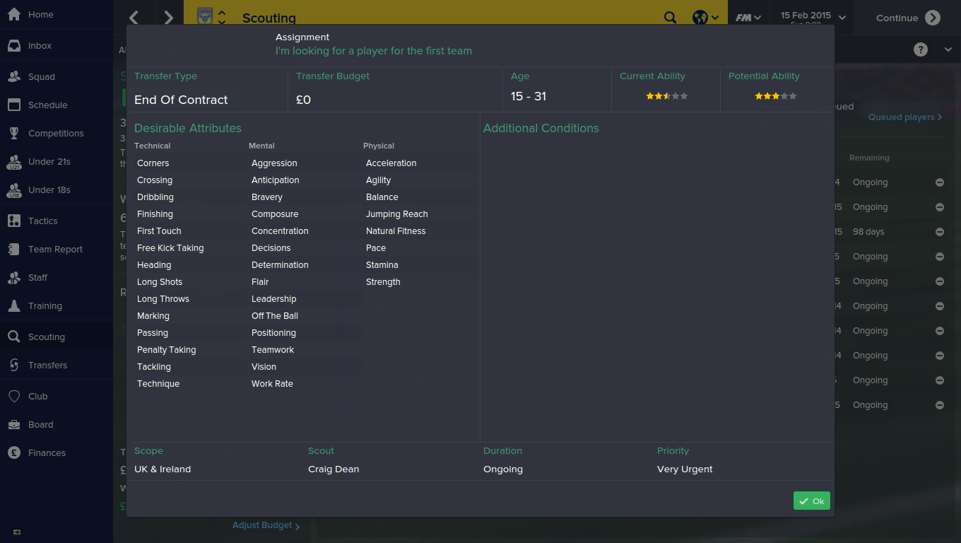 Non league scouting football manager 2015