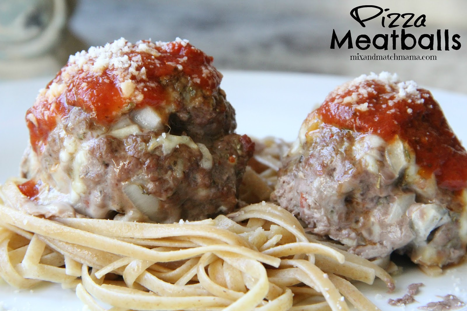 ... kids love pizza and they love meatballs so i just made some meatballs