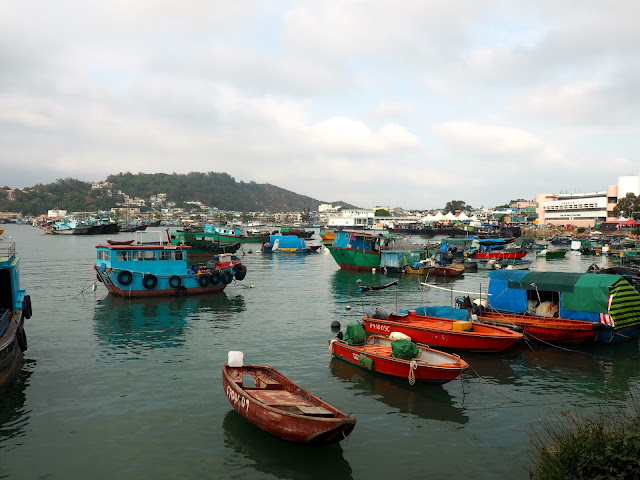 Fishing boats in the harbour of Cheung Chau Island, Hong Kong