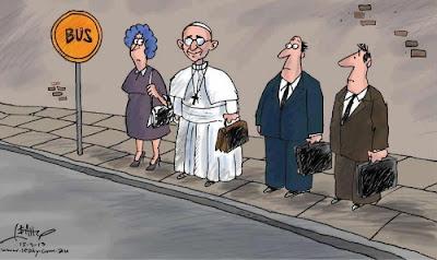 Papa humilde pegando busão