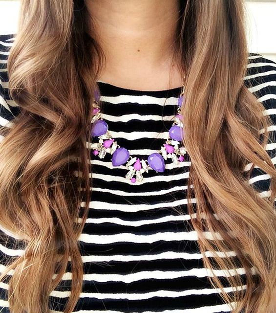 curls + bright jewels