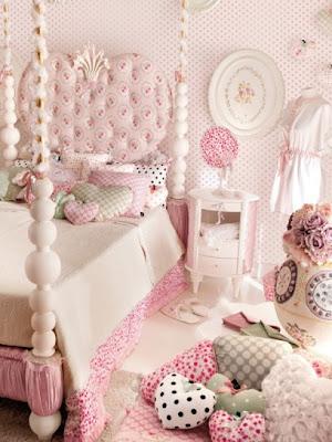 diseño dormitorio adolescente rosa