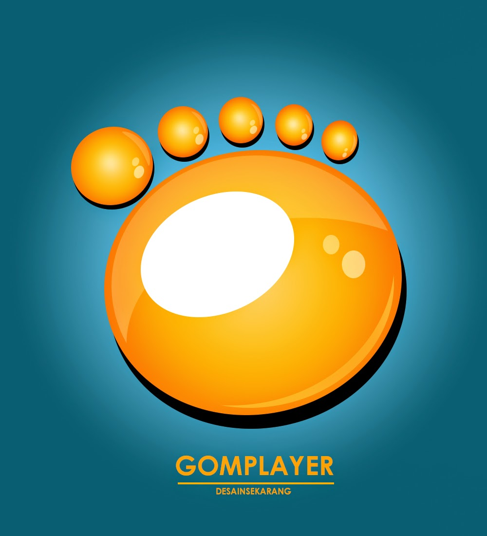membuat icon Gom Player di photoshop