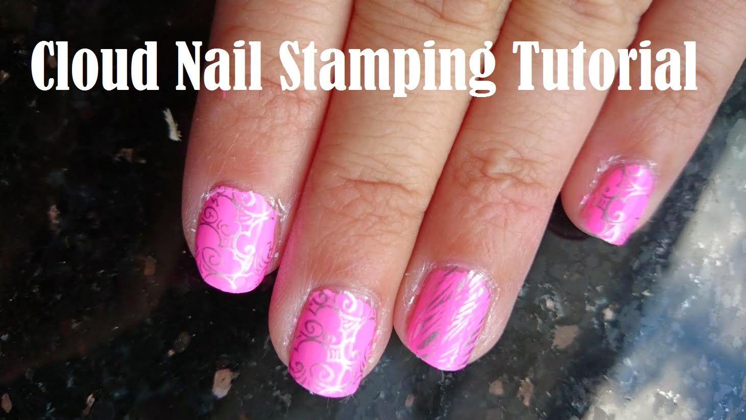 bundle monster bm-316 nail stamping tutorial clouds grass youtube pink silver barry m models own