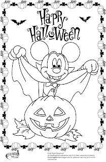 mickey mouse halloween vampire coloring pages