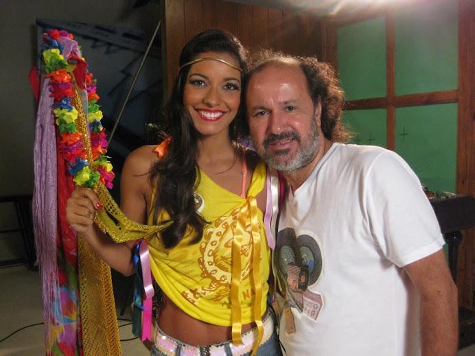 Luciana Fernandes gravando com o diretor Jorge Felipe
