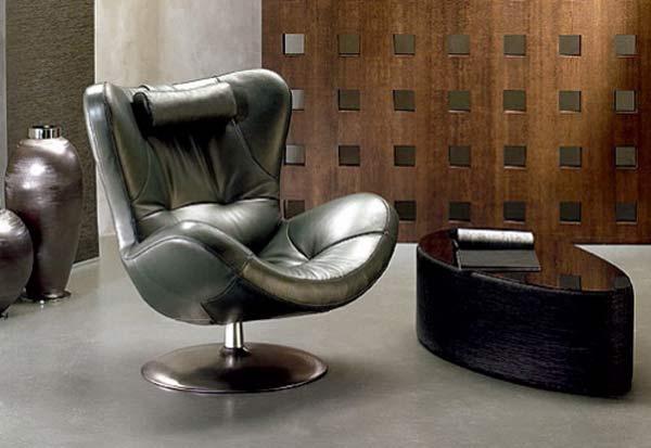 Moderna silla de cuero para oficina sillas y escritorios for Silla escritorio moderna