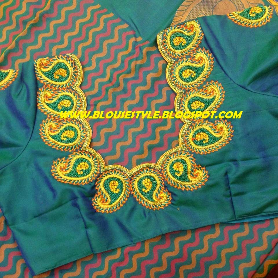 GREEN COLOUR READY MADE BLOUSE