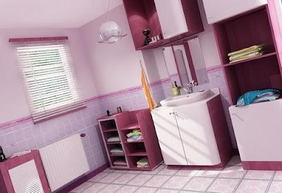 Banheiros Decorados rosa