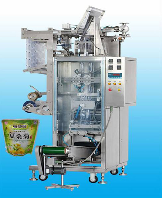Automatic liquid stand-up pouch packaging machine&Verpackungsindustrie von Lebensmitteln fuer Standbeutel 