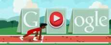 Carrera de vallas doodle de Google Londres 2012 7 de agosto 2012