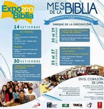 """Evangélicos y católicos organizan la """"Expo Biblia"""" por el Mes de la Biblia"""