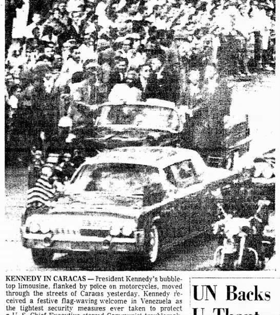 JFK bubbletop Caracas, Venezuela 12/16/61