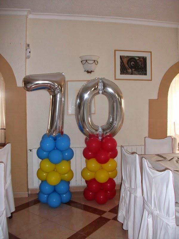 Decoraci n con globos de todo fiesta decoraciones para for Decoracion 70 s